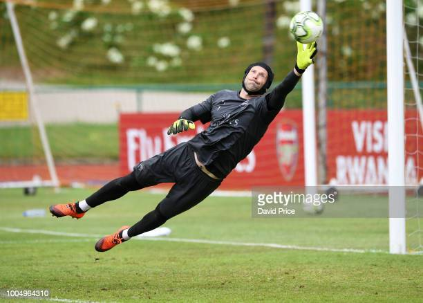Petr Cech of Arsenal during the Arsenal Training Session at Singapore American School on July 25 2018 in Singapore