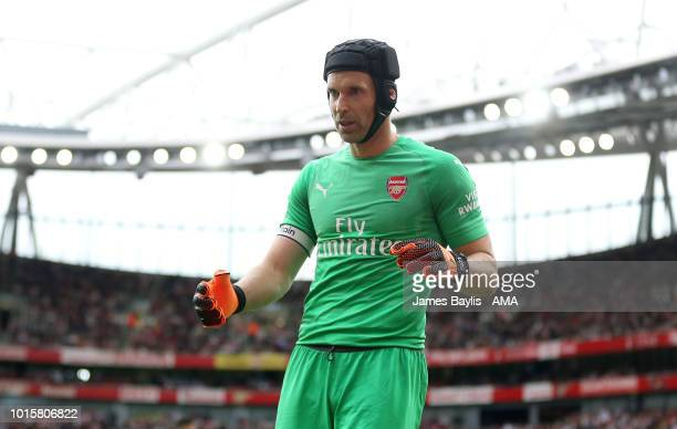 Petr Cech of Arsenal during the Premier League match between Arsenal FC and Manchester City at Emirates Stadium on August 12 2018 in London United...