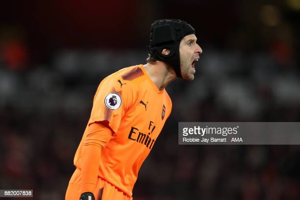 Petr Cech of Arsenal during the Premier League match between Arsenal and Huddersfield Town at Emirates Stadium on November 28 2017 in London England