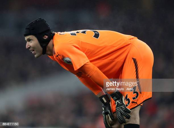 Petr Cech of Arsenal during the Premier League match between Arsenal and Manchester United at Emirates Stadium on December 2 2017 in London England
