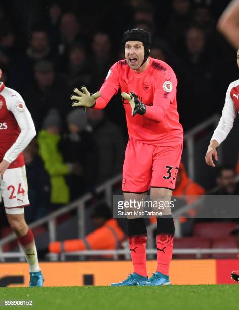 Petr Cech of Arsenal during the Premier League match between Arsenal and Newcastle United at Emirates Stadium on December 16 2017 in London England