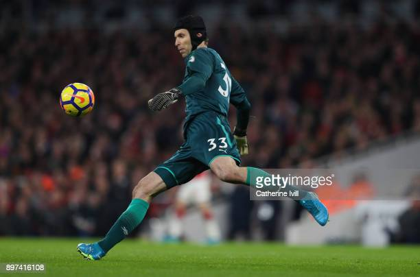 Petr Cech of Arsenal during the Premier League match between Arsenal and Liverpool at Emirates Stadium on December 22 2017 in London England