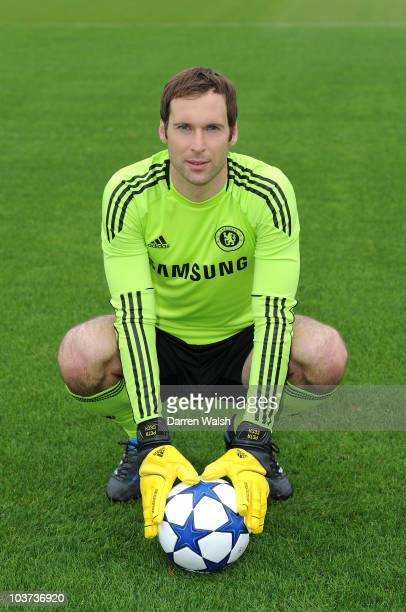 Petr Cech of Chelsea during the 1st team photocall and Team Group at the Cobham Training ground on August 27 2010 in Cobham England