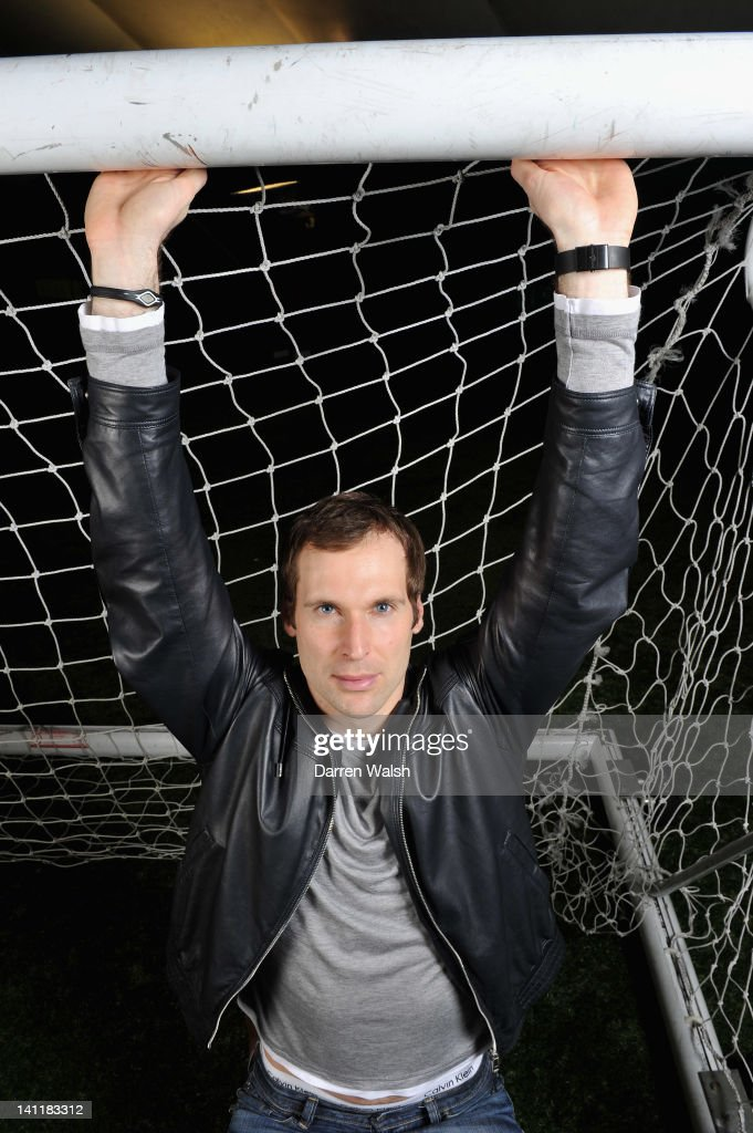 Petr Cech of Chelsea poses during a portrait session at the Cobham training ground on February 23, 2012 in Cobham, England.