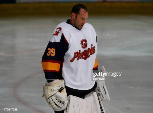 Petr Cech of Guildford Phoenix Ex Arsenal and Chelsea Player during National Ice Hockey League between Guildford Phoenix and Swindon Wildcats 2 at...