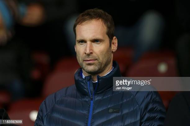 Petr Cech, technical and performance advisor at Chelsea, looks on during the Premier League match between Burnley FC and Chelsea FC at Turf Moor on...