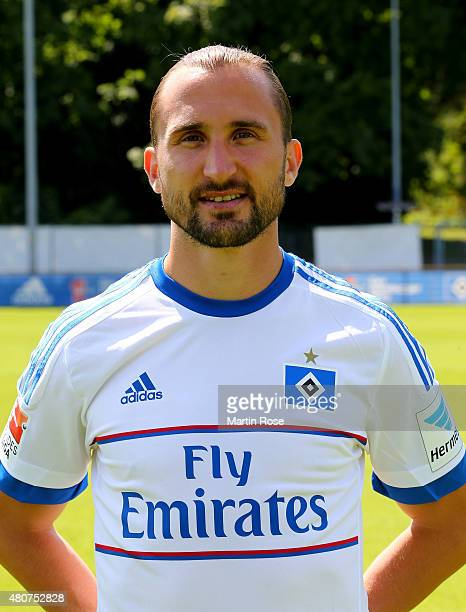 Petr Jiracek of Hamburger SV poses during the team presentation of Hamburger SV at Volksparkstadion on July 15 2015 in Hamburg Germany