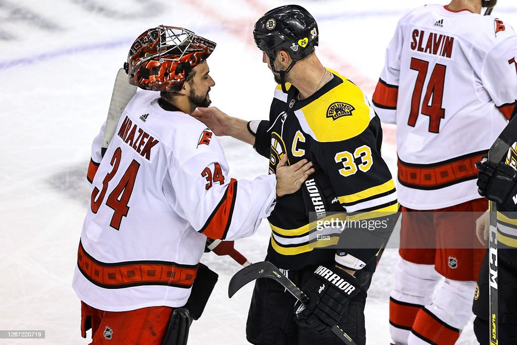 Carolina Hurricanes v Boston Bruins - Game Five : News Photo
