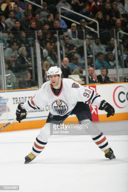 Petr Nedved of the Edmonton Oilers skates during a game against the San Jose Sharks on January 10 2007 at the HP Pavilion in San Jose California The...