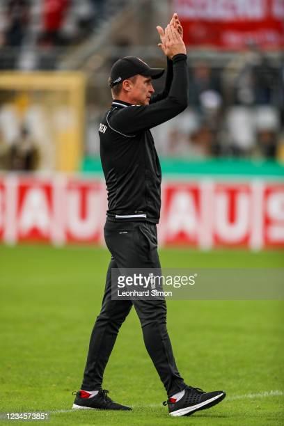 Petr Ruman, coach of Türkgücü Munich, after the DFB Cup first round match between Türkgücü Munich and 1. FC Union Berlin at Grünwalder Stadion in...