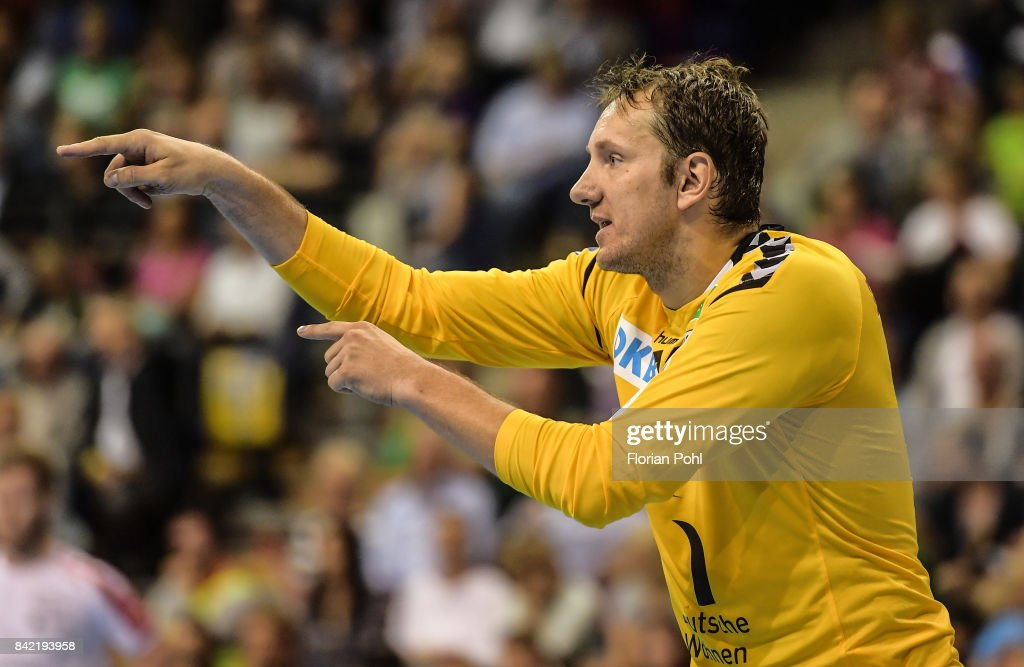 Petr Stochl of Fuechse Berlin during the game between Fuechse Berlin and the Eulen Ludwigshafen on September 3, 2017 in Berlin, Germany.
