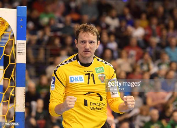 Petr Stochl of Fuechse Berlin during the game between Fuechse Berlin and the HSG Wetzlar on November 26 2017 in Berlin Germany