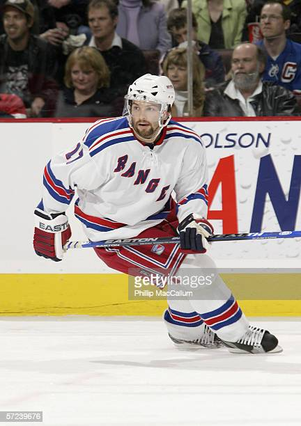 Petr Sykora of the New York Rangers skates during the game against the Ottawa Senators on March 30, 2006 at the Scotiabank Place in Ottawa, Canada....