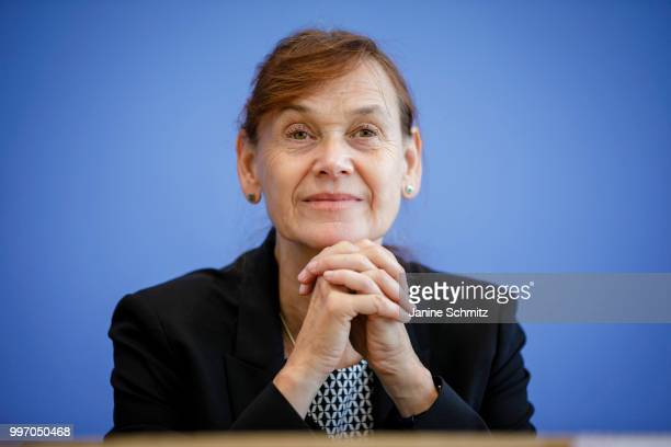 Petra A Thuermann Member of the German Council of Experts for the Assessment of Healthcare Development is pictured during a press conference to...