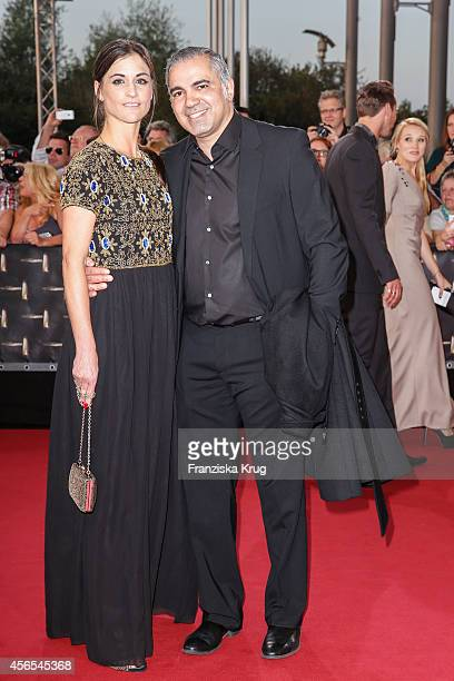 Petra Abdallah and Aiman Abdallah attend the red carpet of the Deutscher Fernsehpreis 2014 on October 02 2014 in Cologne Germany