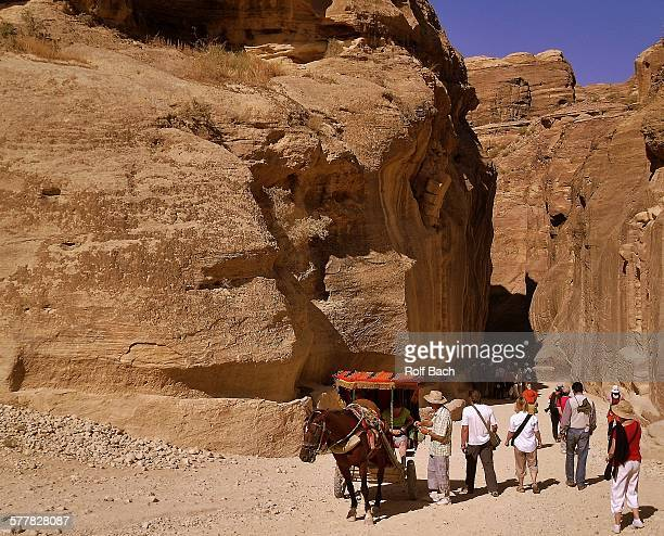 Petra, coach at the entrance to the Siq