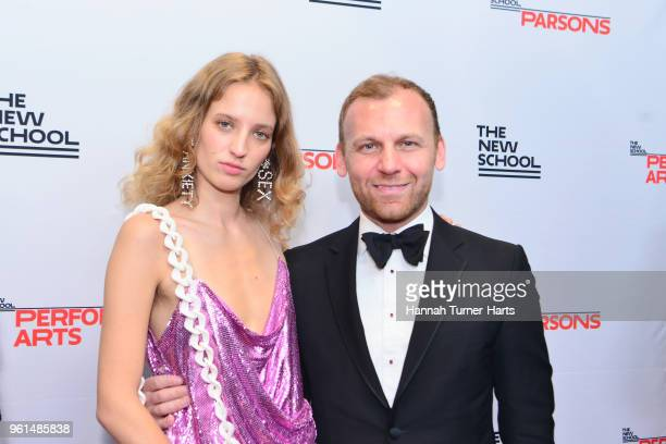 Petra Collins and Burak Cakmak attend the 70th Annual Parsons Benefit at Pier Sixty at Chelsea Piers on May 21 2018 in New York City