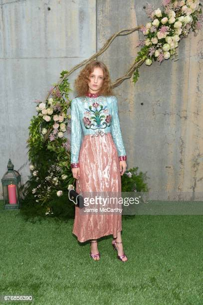 Petra Collins attends the Gucci Bloom Fragrance Launch at MoMA PS1 on May 2 2017 in New York City