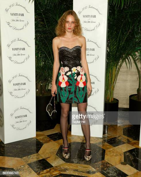 Petra Collins attends the Vanity Fair And Saks Fifth Avenue 2017 International BestDressed List Party at Academy Mansion on October 19 2017 in New...