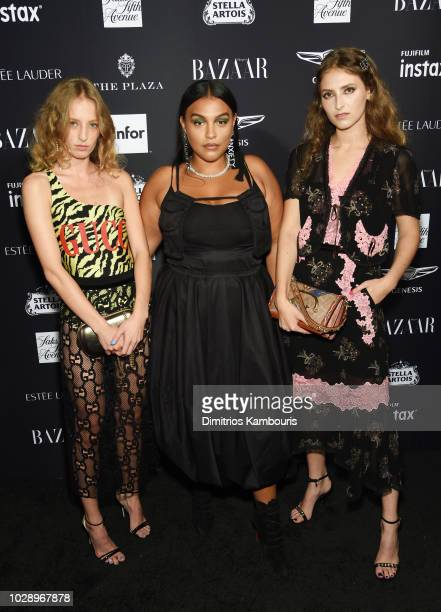 Petra Collins Paloma Elsesser and Anna Collins attend as Harper's BAZAAR Celebrates ICONS By Carine Roitfeld at the Plaza Hotel on September 7 2018...