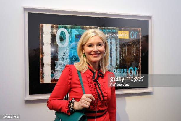 Petra Dieners attends the 'LACHAPELLE Negative Currency' Exhibition Opening at Geuer und Geuer on April 24 2018 in Duesseldorf Germany The exhibition...