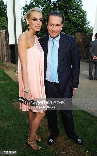Petra Ecclestone and James Stunt attend The Serpentine Gallery Summer Party on July 8 2010 in London England