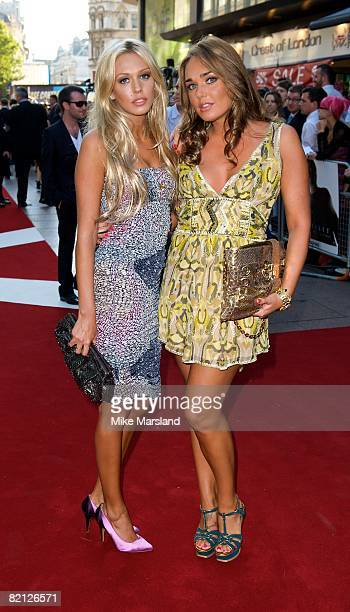 Petra Ecclestone and Tamara Ecclestone attends the UK premiere of The X-Files: I Want To Believe at Empire Leicester Square on July 30, 2008 in...