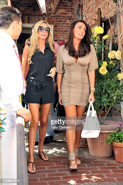 Petra Ecclestone and Tamara Ecclestone leave The Ivy restaurant on Robertson Blvd on September 3 2011 in Beverly Hills California