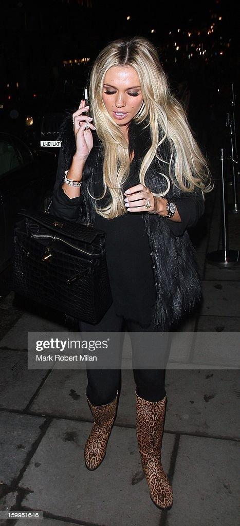 Petra Ecclestone at Nobu restaurant on January 23, 2013 in London, England.