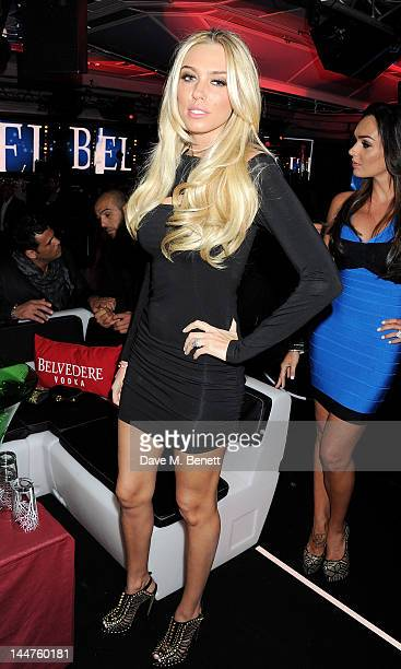 Petra Ecclestone attends the RED Party in Cannes featuring Cyndi Lauper at the VIP Rooms at The JW Marriott on May 18 2012 in Cannes France Photo by...