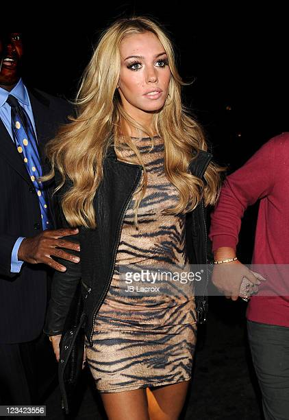 Petra Ecclestone is seen arriving at BOA Steakhouse on September 2 2011 in West Hollywood California