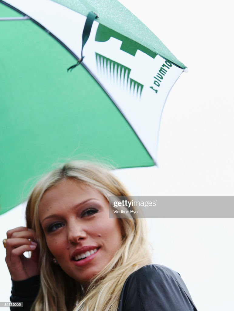 Petra Ecclestone is seen before the British Formula One Grand Prix at Silverstone on July 6, 2008 in Northampton, England.