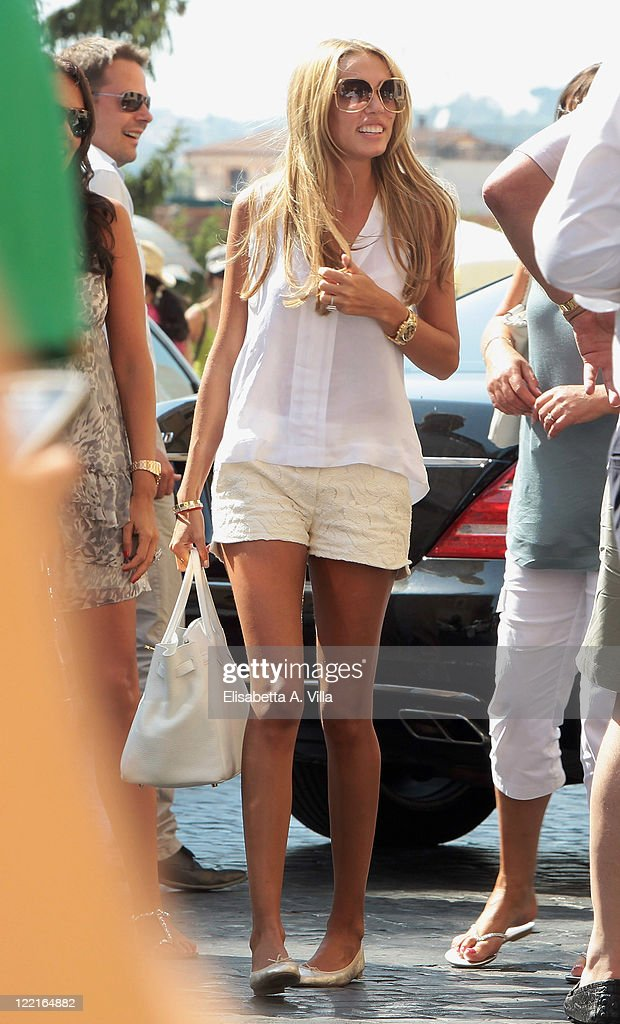 Petra Ecclestone sighted arriving at the Hassler Hotel ahead of her wedding to James Stunt on August 26, 2011 in Rome, Italy.