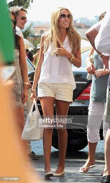 Petra Ecclestone sighted arriving at the Hassler Hotel ahead of her wedding to James Stunt on August 26 2011 in Rome Italy