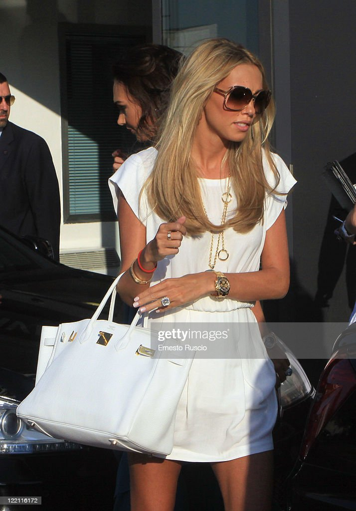 Petra Ecclestone sighting at Ciampino Airport as she arrives for her wedding with James Stunt on August 25, 2011 in Rome, Italy.