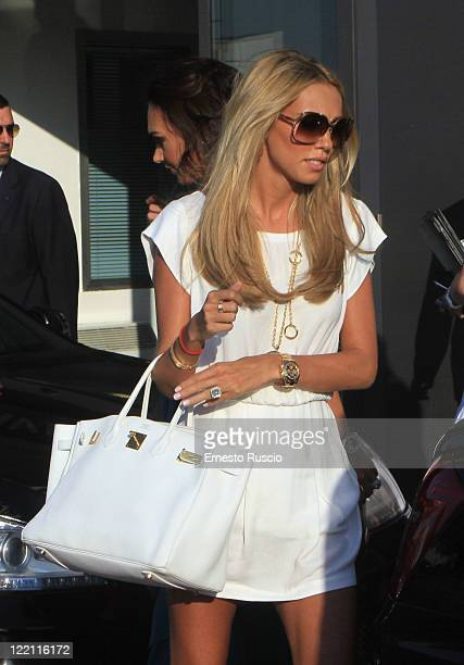 Petra Ecclestone sighting at Ciampino Airport as she arrives for her wedding with James Stunt on August 25 2011 in Rome Italy
