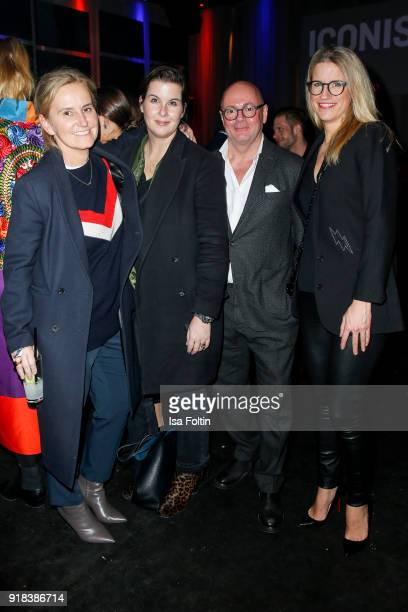Petra Fladenhofer Simone Heift and Andre Maeder during the Young ICONs Award in cooperation with ICONIST at SpindlerKlatt on February 14 2018 in...