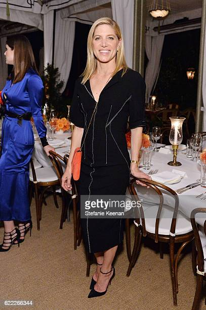 Petra Flannery attends Lisa Love Hosts Dinner For Jonathan Saunders New Chief Creative Officer Of Diane Von Furstenberg at Chateau Marmont on...