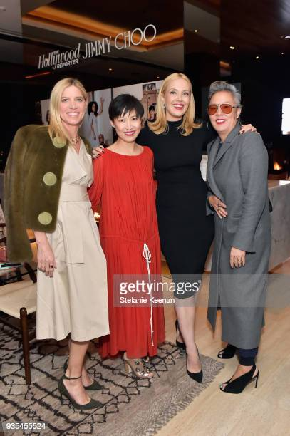 Petra Flannery Jimmy Choo Creative Director Sandra Choi Tara Swennen and Jeanne Yang attend The Hollywood Reporter and Jimmy Choo Power Stylists...