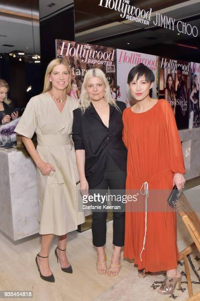 Petra Flannery Kate Young and Jimmy Choo Creative Director Sandra Choi attend The Hollywood Reporter and Jimmy Choo Power Stylists Dinner on March 20...
