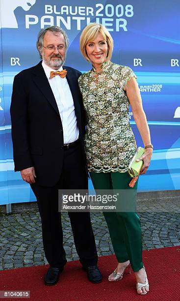Petra Gerster and Christian Nuernberger arrive for the Bavarian Television Award 2008 at the Prinzregenten Theatre on 9 May, 2009 in Munich, Germany.
