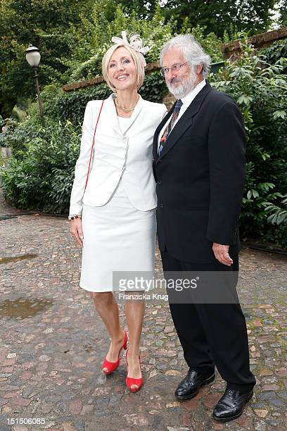 Petra Gerster and Christian Nuernberger attend the Church Wedding of Florian Langenscheidt and Miriam Langenscheidt at Friedenskirche on September 8,...
