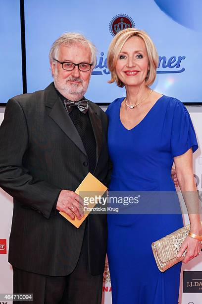 Petra Gerster and Christian Nuernberger attend the Goldene Kamera 2015 on February 27 2015 in Hamburg Germany