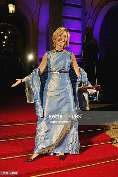 Petra Gerster arrives at the Deutscher Sportpresseball on November 11, 2006 in Frankfurt, Germany.