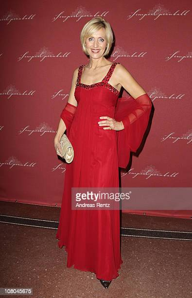 Petra Gerster arrives at the Semper Opera ball on January 14, 2011 in Dresden, Germany.