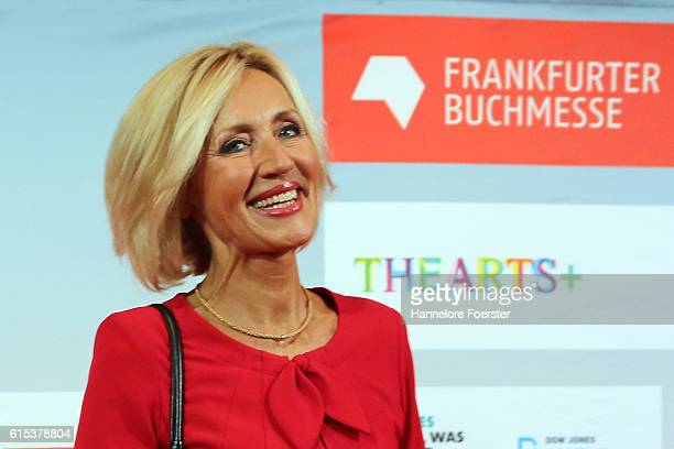 Petra Gerster arrives to the opening ceremony of the 2016 Frankfurt Book Fair on October 18, 2016 in Frankfurt am Main, Germany. The 2016 fair, which...