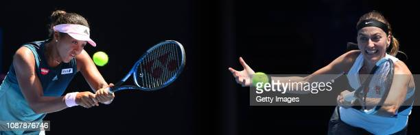 COMPOSITE OF IMAGES Image numbers 10857043381085396692 GRADIENT ADDED In this composite image a comparison has been made between tennis players Naomi...