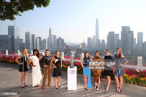 Petra Kvitova of the Czech Republic, Naomi Osaka of Japan, Elina Svitolina of Ukraine, Ashleigh Barty of Australia, Simona Halep of Romania, Bianca...
