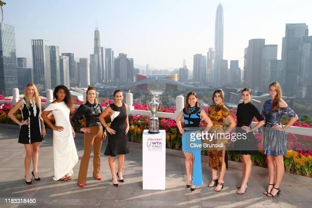 Petra Kvitova of the Czech Republic, Naomi Osaka of Japan, Elina Svitolina of Ukraine, Ashleigh Barty of Australia, Simona Halep of Romania, Bianca...