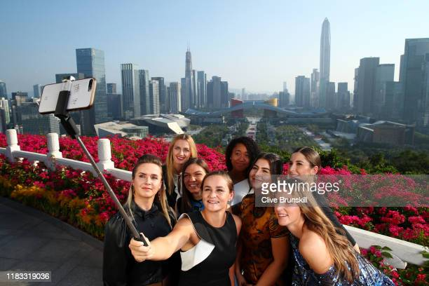 Petra Kvitova of the Czech Republic Naomi Osaka of Japan Elina Svitolina of Ukraine Ashleigh Barty of Australia Simona Halep of Romania Bianca...